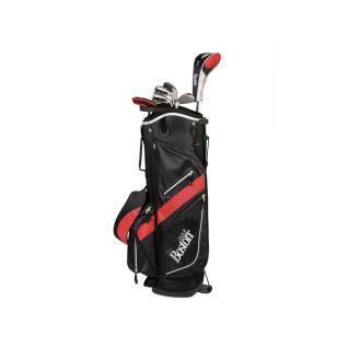 "Kit (bag + 8 clubs) left handed Boston Golf deluxe 8.5"" 1/2 série"