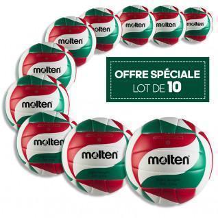 Set of 10 training balls Molten BVL-V5M2000-L