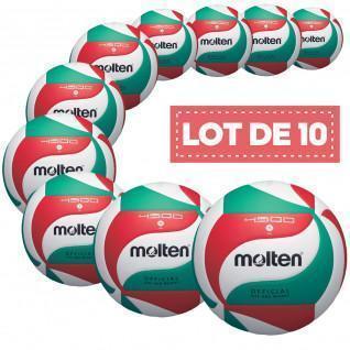 Set of 10 competition balls Molten V5M4500