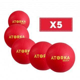 Batch of 5 beach handballs Atorka HB500B