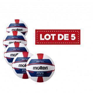 Lot of 5 Molten Beach Volleyballs for women V5b5000