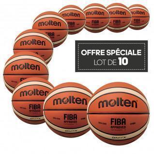 Pack of 10 Molten BGMX competition balls