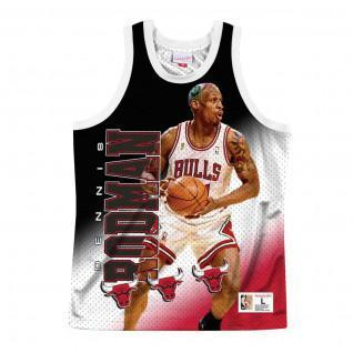 Chicago Bulls behind the back Dennis Rodman jersey.