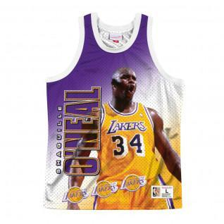 Los Angeles Lakers jersey behind the back