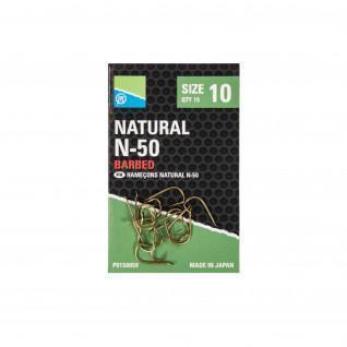 Hooks Preston NATURAL N-50 Size 10