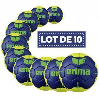 Set of 10 balls Erima Pure Grip No. 4