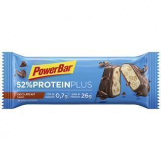 Pack of 20 bars PowerBar 52% ProteinPlus Low Sugar Chocolate Nut