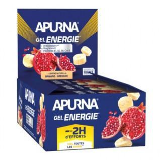 Batch of 24 gels Apurna Energie banane grenade - 35g