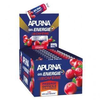 Batch of 25 gels Apurna Energie caféine cranberry - 35g