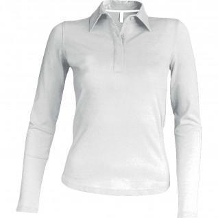 Women's polo short sleeve Kariban blanc
