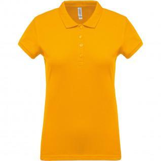 Woman polo shirt short sleeves Kariban Piqué