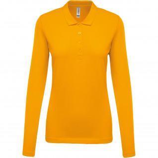 Women's long-sleeved polo shirt Kariban Piqué