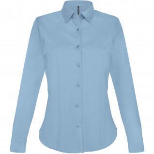 Shirt woman long sleeves cotton Kariban [Size XXL]