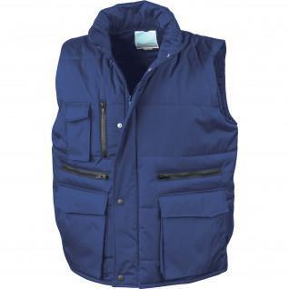 Sleeveless down jackets Result Matelassé Ripstop