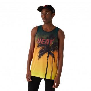 New Era NBA Coastal Heat Miami Heat Aop Tank Top