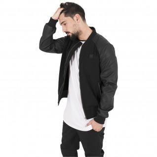 Jacket Urban Classic cotton leather imitation leeve