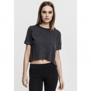 Woman's Urban Classic burnout leeve crew T-shirt