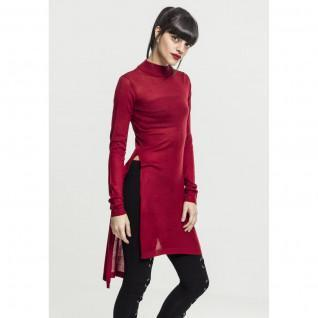 Woman's Urban Classic fine knit turtlene long t-shirt