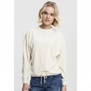 Woman's Urban Classic Oversized velvet crew T-shirt