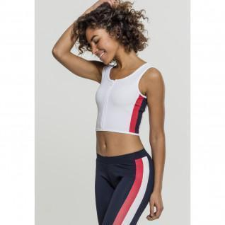 Crop top woman Urban Classic Stripe zip