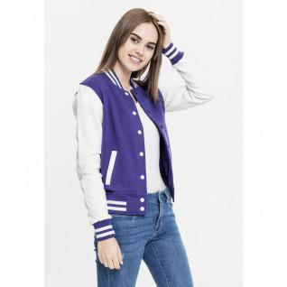 Jacket woman Urban Classic 2-tone college sweater 2.0