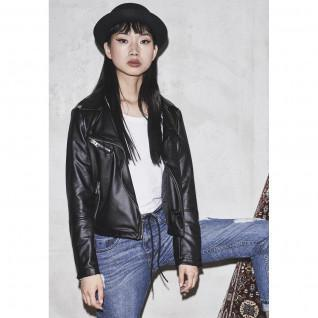 Women's Urban Classic parka faux leather biker