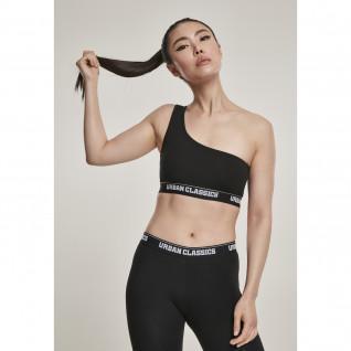 Woman's Urban Classic asymmetric logo bra