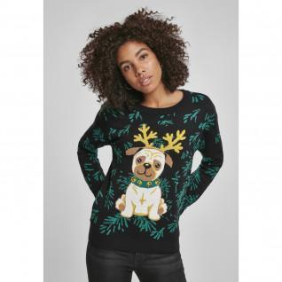 Sweatshirt woman Urban Classic pug chritmas