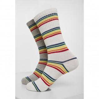 Pack of 2 Urban Classic Rainbow Socks