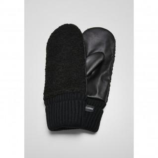 Urban Classics sherpa imitation leather gloves
