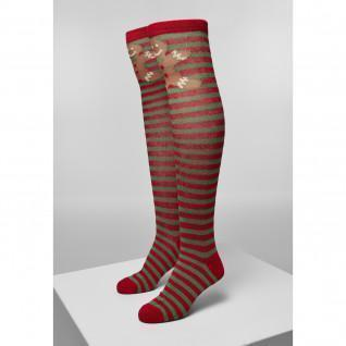 Women's Urban Classics christmas overknees socks