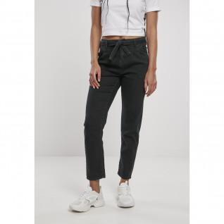 Women's high waist denim chino pants Urban Classics [Size 30]