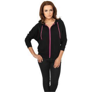 Sweatshirt woman Urban Classic bat 3/4 leeve zip