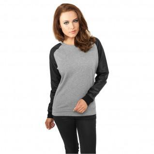 Woman's Urban Classic T-shirt leather imitation widene crew