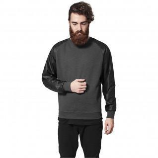Urban Classic raglan leather imitation crew t-shirt