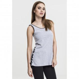 Women's Urban Classic leather imitation knotted tank top