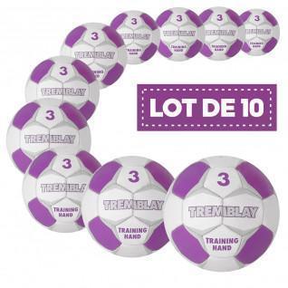 Set of 10 balloons handball Tremblay training
