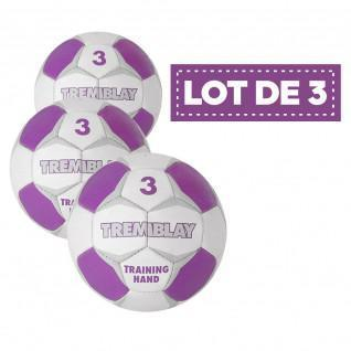 Pack of 3 training handball Tremblay balloons