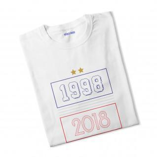T-shirt femme 1998-2018 2 étoiles [Size XS]