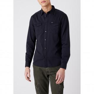 Wranger Shirt with dark navy pockets [Size M]