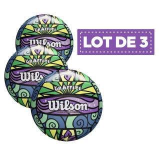 Set of 3 Beach-Volley Wilson Graffiti Balls